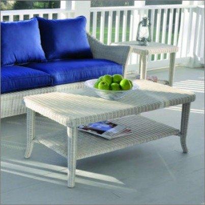 Kingsley Bate Cape Cod Wicker Rectangular Coffee Table  by Kingsley Bate