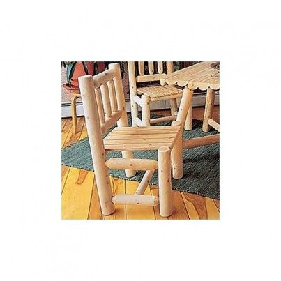 Rustic Natural Cedar Dining Side Chair  by Rustic Natural Cedar