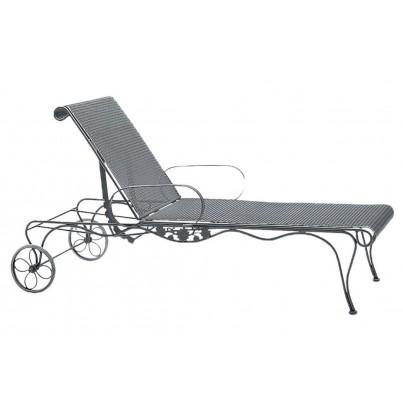 Woodard Briarwood Wrought Iron Adjustable Chaise Lounge  by Woodard