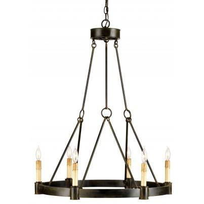 Currey & Company Chantelaine Iron Chandelier  by Currey & Company