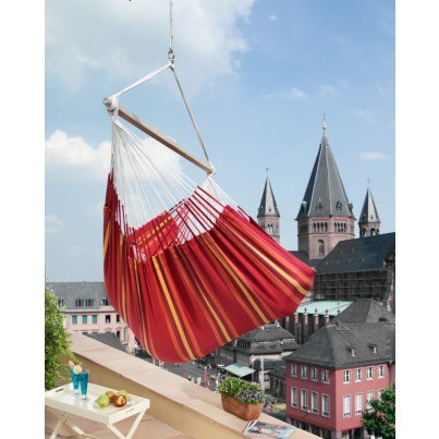 La Siesta Currambera Lounger Hammock Chair - Cherry  by La Siesta