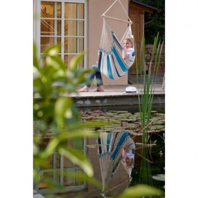 La Siesta Basic Colombian Caribeña Hammock Chair - Aqua Blue  by La Siesta