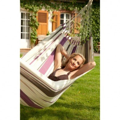 La Siesta Caribena Cotton Single Classic Hammock - Purple  by La Siesta