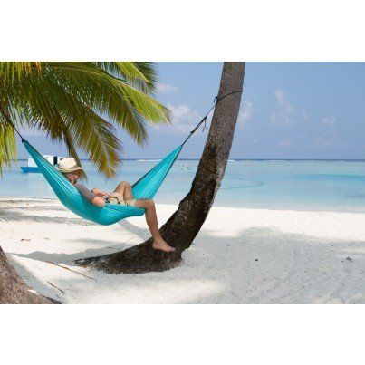 La Siesta Colibri Parachute Silk Single Travel Hammock - Turquoise  by La Siesta