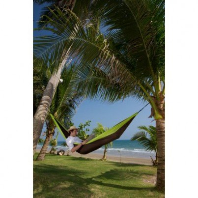 La Siesta Colibri Parachute Silk Double Travel Hammock - Green  by La Siesta
