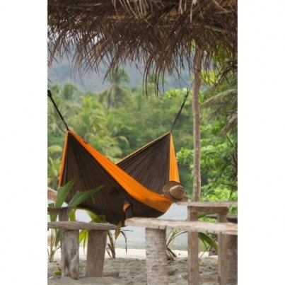 La Siesta Colibri Parachute Silk Double Travel Hammock - Orange  by La Siesta