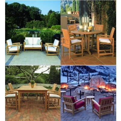 Kingsley Bate Amalfi Teak Seating and Dining Collection - Build Your Own Ensemble  by Kingsley Bate
