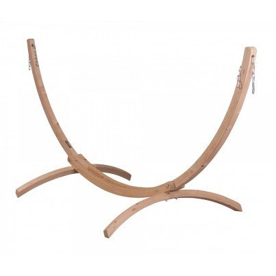 Canoa Caramel Wood Hammock Stand - Single  by La Siesta
