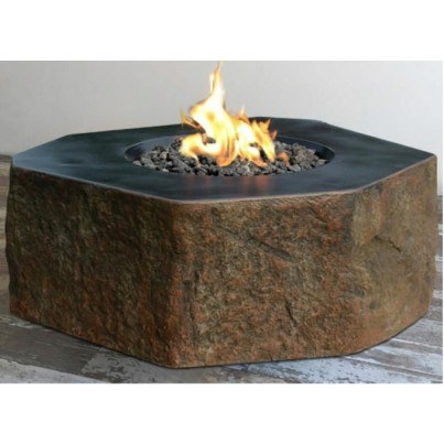 Columbia Cast Concrete Fire Table  by Frontera Furniture Company