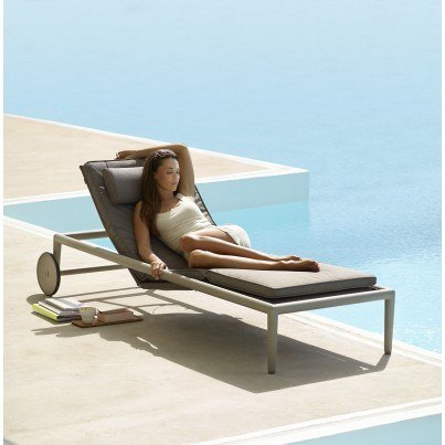 Cane-line Conic Chaise Lounge  by Cane-line