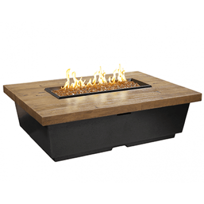 Contempo Rectangle Fire Pit Table(Textured Finish or Reclaimed Wood)  by CGProducts