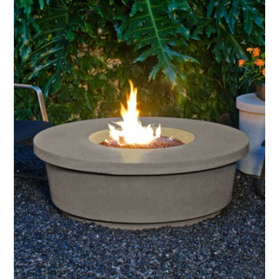Contempo Round Fire Pit Table (Textured Finish or Reclaimed Wood)  by CGProducts