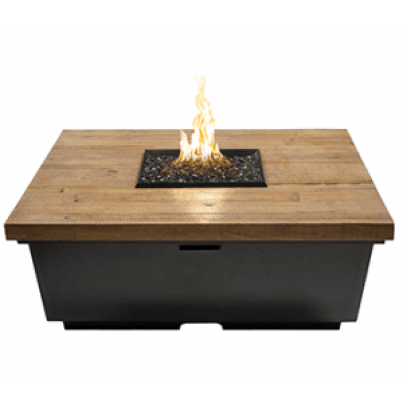 Contempo Square Firetable (Textured Finish or Reclaimed Wood)  by CGProducts