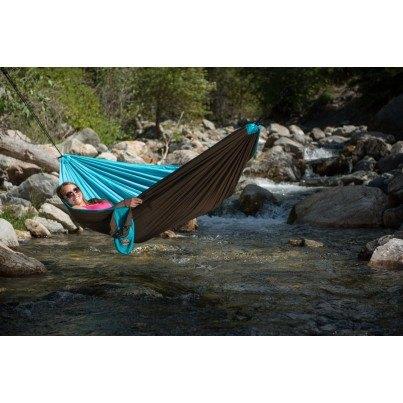 La Siesta Colibri Parachute Silk Quilted Travel Hammock - Turquoise  by La Siesta