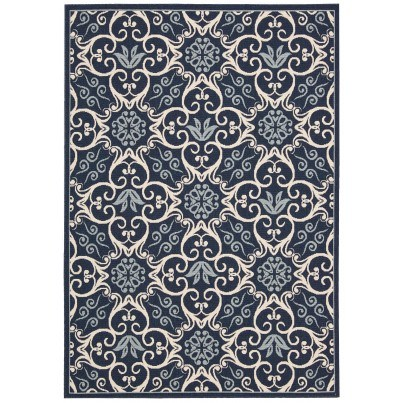 Nourison Indoor/Outdoor Caribbean Rug CRB02 - Navy 1'x2'  by Nourison