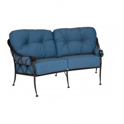 Woodard Derby Wrought Iron Crescent Loveseat  by Woodard