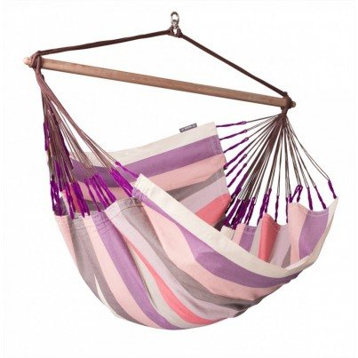 La Siesta Domingo Colombian Lounger Hammock Chair - Plum  by La Siesta