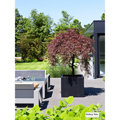 Jumbo Square Fiberstone Planter Large  by Frontera Furniture Company