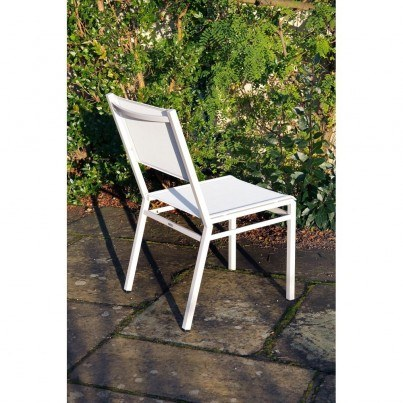 Barlow Tyrie Equinox Stainless Steel Side Chair  by Barlow Tyrie