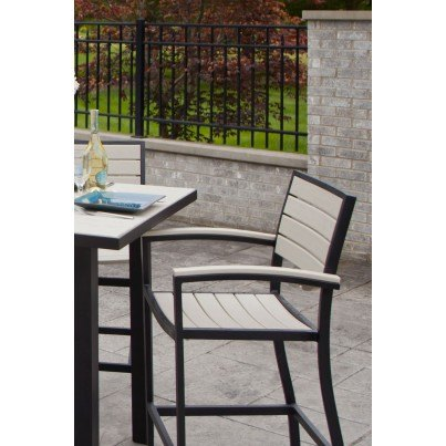 POLYWOOD® Euro Counter Arm Chair  by Polywood