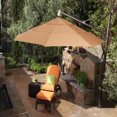 Treasure Garden 11' Octagonal Cantilever Umbrella  by Treasure Garden