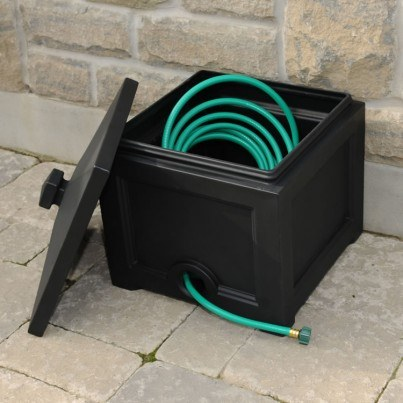 Mayne Fairfield Garden Hose Bin - Black,White,Clay  by Mayne