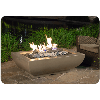Bordeaux Fire Bowl - Textured Finish and Reclaimed Wood  by CGProducts