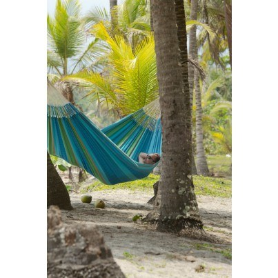 La Siesta Flora Organic Cotton Kingsize Classic Hammock - Curacao  by La Siesta