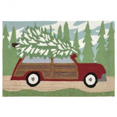"Trans-Ocean Frontporch Wood Wonderland Pine Rug 30""x48""  by TransOcean"