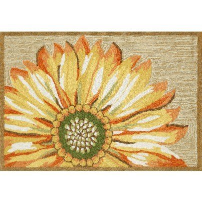 "Trans-Ocean Frontporch Sunflower Yellow Rug 20""X30""  by TransOcean"