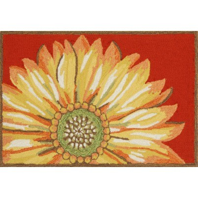 "Trans-Ocean Frontporch Sunflower Red Rug 24""X36""  by TransOcean"