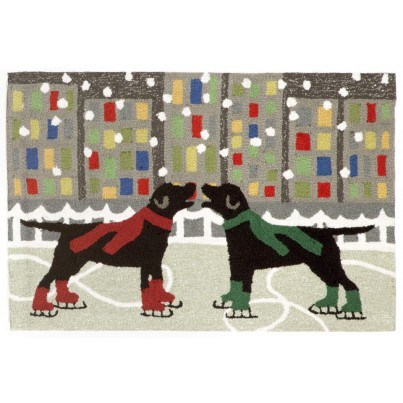 """Trans-Ocean Frontporch Holiday Ice Dogs Multi Rug 24""""x36""""  by TransOcean"""