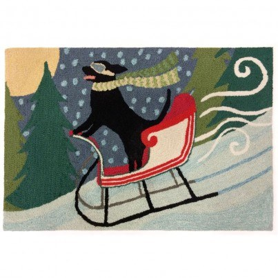 "Trans-Ocean Frontporch Sledding Dog Multi Rug 24""X36""  by TransOcean"