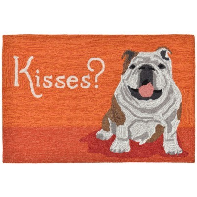 "Trans-Ocean Frontporch Wet Kiss Orange Rug 20""X30""  by TransOcean"