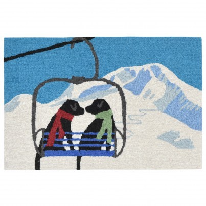 "Trans-Ocean Frontporch Ski Lift Love Rug 30""x48""  by TransOcean"