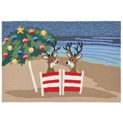 "Trans-Ocean Frontporch Coastal Christmas Multicolored Rug 30""x48""  by TransOcean"