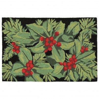 "Trans-Ocean Frontporch Hollyberries Rug 20""x30""  by TransOcean"