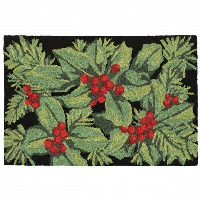 """Trans-Ocean Frontporch Hollyberries Rug 30""""x48""""  by TransOcean"""