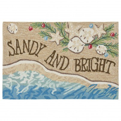 "Trans-Ocean Frontporch Sandy & Bright Rug 20""x30""  by TransOcean"