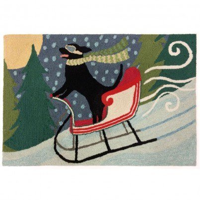 "Trans-Ocean Frontporch Sledding Dog Multi Rug 30""X48""  by TransOcean"