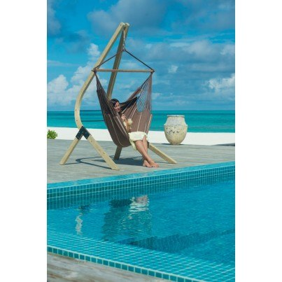 La Siesta Habana Lounger Hammock Chair - Chocolate  by La Siesta