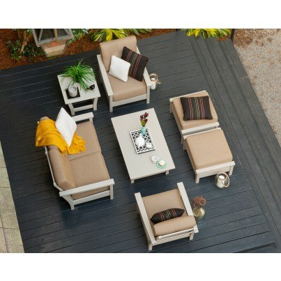 POLYWOOD® Harbour 7 Piece Deep Seating Ensemble  by Polywood