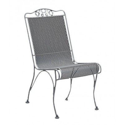 Woodard Briarwood Wrought Iron High-Back Dining Side Chair  by Woodard