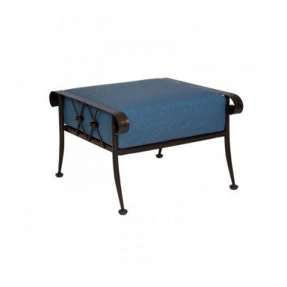 Woodard Derby Wrought Iron Ottoman  by Woodard
