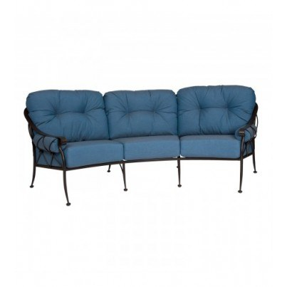 Woodard Derby Wrought Iron Crescent Sofa  by Woodard