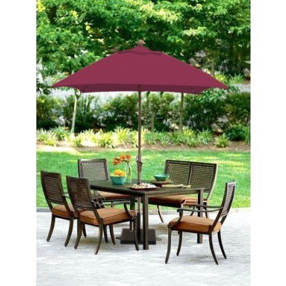 Luxe Shade™ Panama Square 5.5' Market Patio Umbrella  by Luxe Shade™