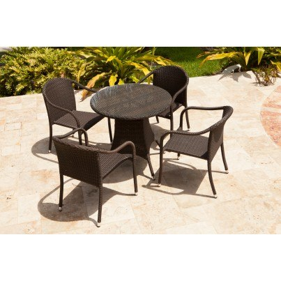 "Source Outdoor Circa Wicker 32"" Round Dining Table   by Source Outdoor"