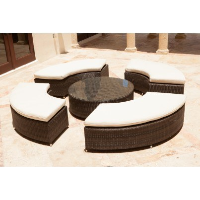 Source Outdoor Circa Wicker Round Coffee Table  by Source Outdoor