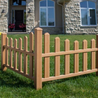 Country Corner Picket Fence - Composite  by Frontera Furniture Company