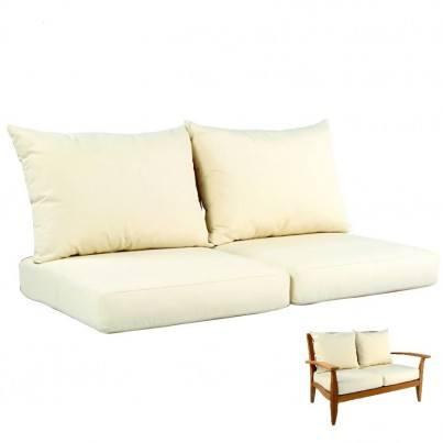 Kingsley Bate Ipanema Settee Seat & Back Cushion  by Kingsley Bate